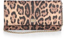 Dolce & Gabbana Leopard Print Coated Canvas Chain Wallet - Lyst