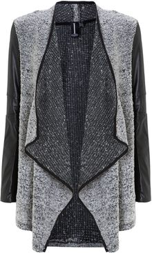 Izabel London Contrast Boucle Cardigan - Lyst
