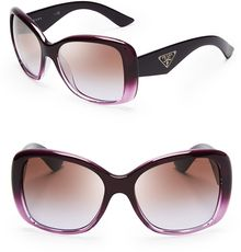 Prada Galleria Triangle Logo Sunglasses - Lyst