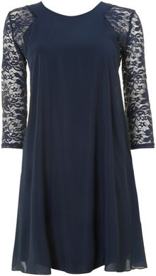Tfnc Lace Sleeve Mini Dress - Lyst