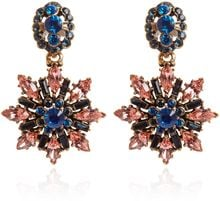 Oscar de la Renta Multi Colour Starburst Clipon Drop Earrings - Lyst