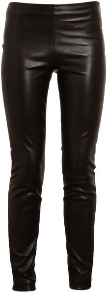 The Row Soft Leather Trousers - Lyst