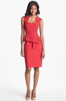 BCBGMAXAZRIA Simone Peplum Sheath Dress - Lyst