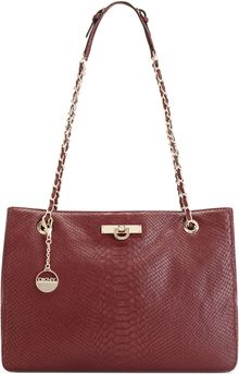 DKNY Python Shopper Bag - Lyst