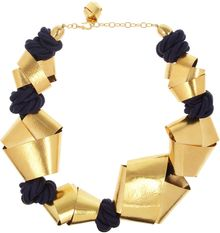 Herve Van Der Straeten Hammered Gold Plated Rope Necklace - Lyst
