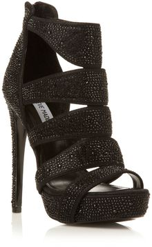 Steve Madden Spyceer Jewelled Caged High Heel Sandals - Lyst