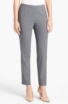 Lafayette 148 New York Side Zip Stretch Wool Pants - Lyst