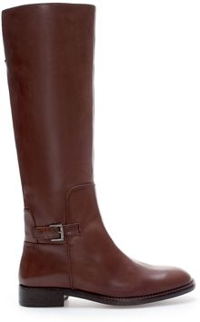 Zara Leather Riding Boot - Lyst