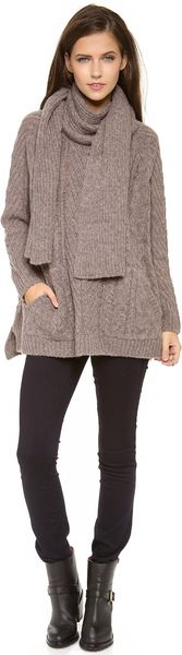 Marc By Marc Jacobs Connolly Scarf Sweater - Lyst