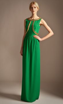 Temperley London Long Goldina Dress - Lyst