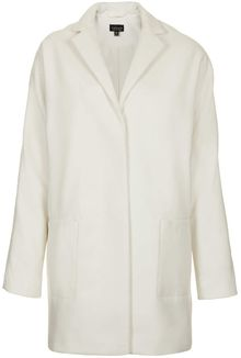 Topshop Oversized Snap Button Coat - Lyst