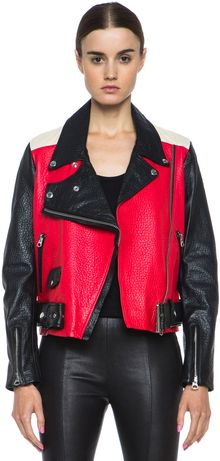 Acne Merci Leather Jacket - Lyst