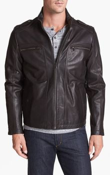 Kenneth Cole Leather Jacket - Lyst