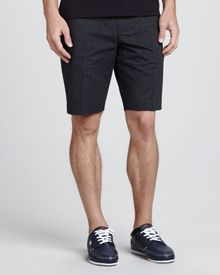 Michael Kors Collection Cotton Seersucker Shorts  - Lyst