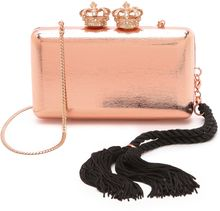 Serpui Marie Metallic Crown Clutch - Lyst
