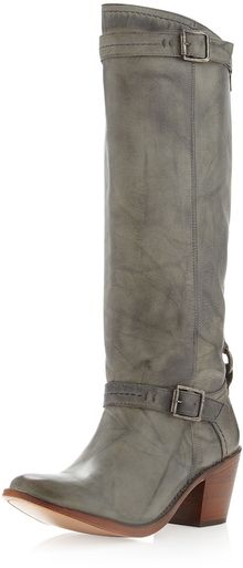 Frye Carmen Distressed Boot Gray - Lyst