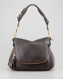 Tom Ford Jennifer Medium Zip Strap Shoulder Bag Dark Brown - Lyst
