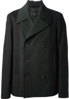 Calvin Klein Double Breasted Coat - Lyst