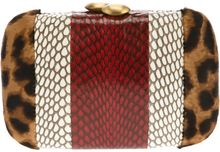 Serpui Marie Snake and Leopard Box Clutch - Lyst