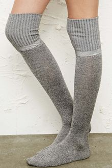Urban Outfitters Marl Over the knee Socks in Grey - Lyst