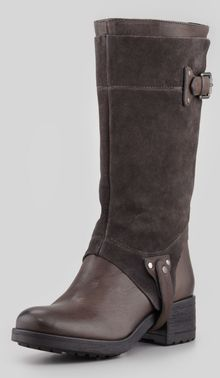 Vera Wang Lavender Essie Suedeshaft Harness Boot Gray - Lyst