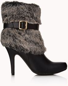 Forever 21 Musthave Faux Fur Booties - Lyst