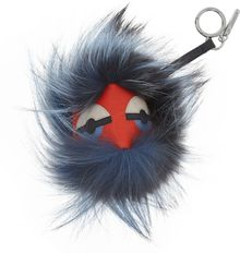 Fendi Texturedleather and Fox Monster Bag Charm - Lyst
