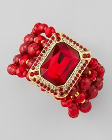 Jose & Maria Barrera Teardrop Chandelier Clip Earrings Red - Lyst