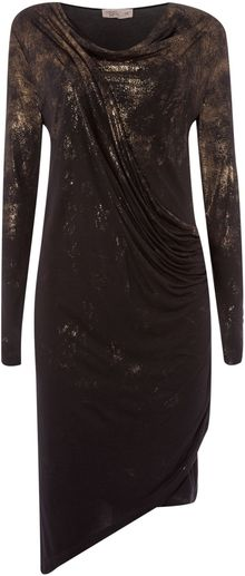 Label Lab Distressed Foil Print Dress - Lyst