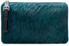 Zara Furry Clutch Bag - Lyst