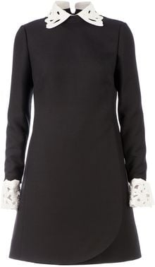 Valentino Cutout Collar Dress - Lyst