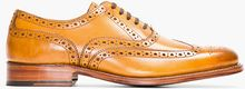 Grenson Tan Leather Dylan Wingtip Brogues - Lyst