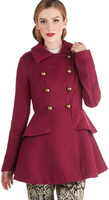 ModCloth Tiering Up My Heart Coat - Lyst