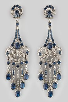 Jose & Maria Barrera Crystalencrusted Teardrop Earrings - Lyst