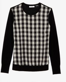 Equipment Buffalo Checkered Silk Front Sweater - Lyst