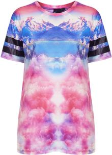 Topshop Frosted Mountain Tee By Escapology - Lyst