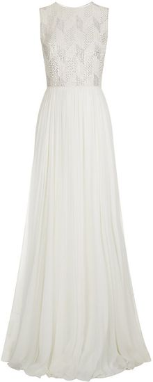 Jenny Packham Embellished Top Gown - Lyst