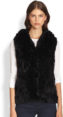 Jocelyn Hooded Fur Vest - Lyst