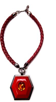 House Of Lavande Harrice Miller Yves Saint Laurent Pendant Necklace Redtopazleather - Lyst