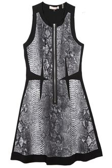 Rebecca Taylor Sleeveless Blocked Python Dress with Front Zip - Lyst