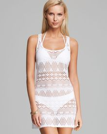 Ralph Lauren Oasis Crochet Tank Dress Swim Coverup - Lyst