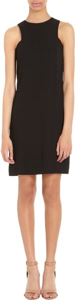 Alexander Wang Crossover Back Shift Dress - Lyst
