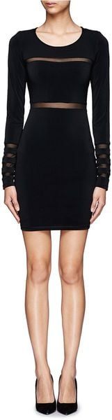 Elizabeth And James Millie Mesh Panel Dress - Lyst
