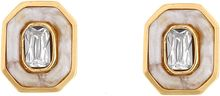 Kara Ross Inset Crystal Resin Stud Earrings - Lyst