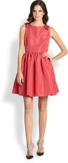 RED Valentino Bow Shoulder Dress - Lyst