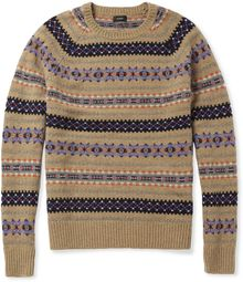 J.Crew Fair Isle Wool Sweater - Lyst