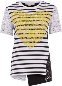 Stella McCartney Mixed Heart Print Tshirt - Lyst