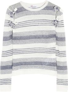 RED Valentino Striped Linen Top - Lyst