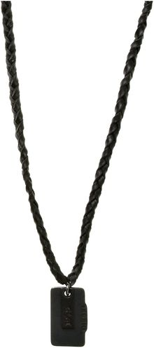 Diesel Pendant Plaited Necklace - Lyst