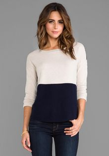 Duffy Crew Neck Sweater in Navy - Lyst